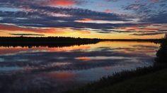 Sääkuva: Auringonlasku Pellossa