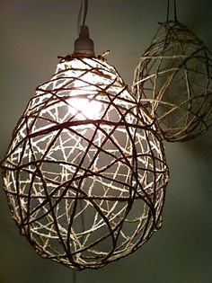 design devotee: DIY Jute String Chandeliers