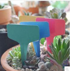 50100 PCS 6 Plastic Plant T-type Tags Markers Nursery Garden Labels Blan Garden Labels, Plant Labels, Home Vegetable Garden, Garden Pots, Box Garden, Gray Garden, Bush Plant, Plastic Plant Pots, Plant Markers