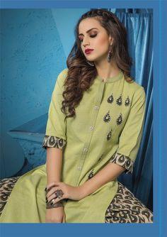 """Fall in love with super cool kurti & palazzo sets from by Shivali. The all-new """"Womaniya is all about vivid colours & breezy styles. Approx MRP: 1600 to 1700 Rs Per Piece. Palazzo With Kurti, Stylish Kurtis, Kurta With Pants, Designer Dresses, Designer Kurtis, Kurta Designs, Women Wear, Ladies Wear, Indian Dresses"""