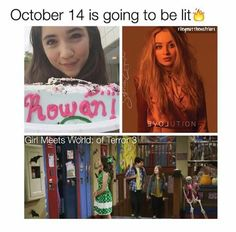 So... October 14: Rowan's 15th birthday. Sab's second album 'EVOLution' is released. Disney premieres Girl Meets World of Terror 3. What a day to be alive!