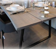 TIMBER Matbord Plankbord Timber Dining Table, Formal Dining Tables, Plank Table, Mushroom Recipes, Low Carb Recipes, New Homes, Interior, Kitchen, Furniture