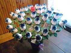 50 origami roses Origami Rose, Paper Flowers, Roses, Artwork, Work Of Art, Pink, Auguste Rodin Artwork, Rose, Artworks