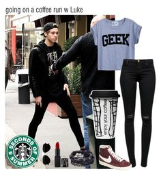 """coffee run w Luke"" by perrieakalife ❤ liked on Polyvore featuring J Brand, NIKE, Calvin Klein and Boohoo"