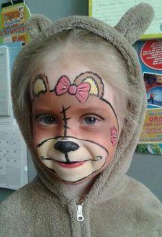 Easy Teddy Bear Face Paint