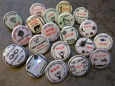 """Westeros passport stamp buttons 1.25"""" / 32mm pinback badges [A Song of Ice and Fire / Game of Thrones]"""