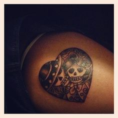 Day of the Dead skull tattoo ~ Dia de los Muertos (Day of the Dead) is a Mexican religious holiday that has grown in popularity over the years. Description from pinterest.com. I searched for this on bing.com/images