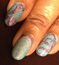 Really cool nails I did. I hope you like them.