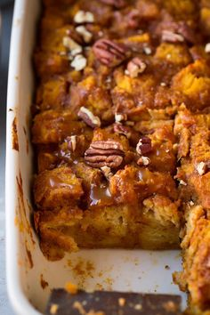 Pumpkin Bread Pudding - Cooking Classy
