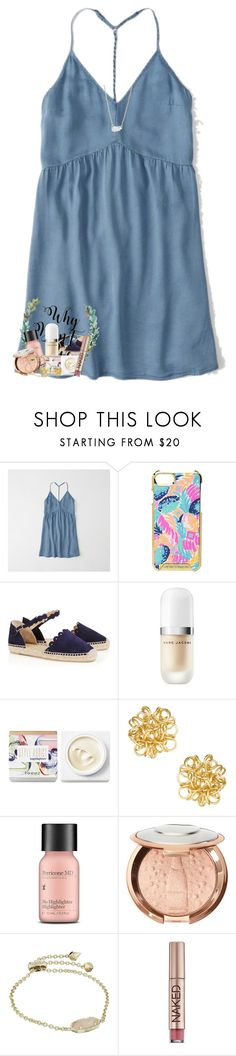 """""""3:48 me & em can't sleep"""" by livnewell ❤ liked on Polyvore featuring Abercrombie & Fitch, Lilly Pulitzer, Castañer, Marc Jacobs, Teeez, Perricone MD, Kendra Scott, Urban Decay and smartie"""
