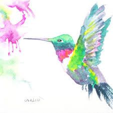 Image result for watercolor hummingbird