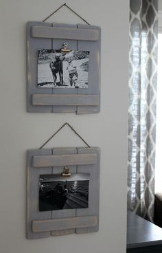 Wood Pallets These DIY pallet plaques are easy to make to display your photos around the home. - These DIY Pallet Plaques are an easy DIY and are a fun alternative to picture frames. just some scrap wood and wood glue are all you need! Pallet Crafts, Diy Pallet Projects, Wood Projects, Woodworking Projects, Diy Crafts, Woodworking Furniture, Teds Woodworking, Pallet Gift Ideas, Popular Woodworking