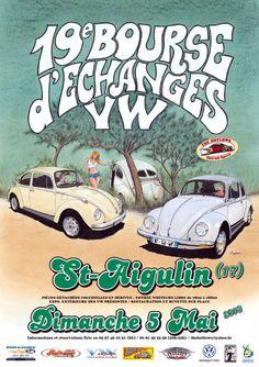 """19. Bourse d""""échanges VW St-Aigulin  5 mai 2013  Saint-Aigulin, Poitou-Charentes, France."""