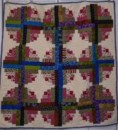 Q Log Cabin Curved Off Set On Pinterest Log Cabin Quilts