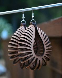 Laser Cut Earrings Large Nautilus Sterling by KristinaBanwell