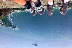 Selfie do perigo: pedra da gávea é novo lugar para fotos impressionantes