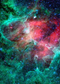 ACEO Infrared Eagle Nebula Miniature Color by DeepSpacePhotography, $4.00