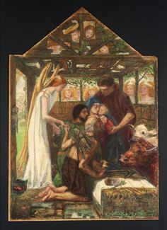 """""""The Adoration"""", 1858-1864 / From """"The Seed of David"""" / Dante Gabriel Rossetti (1828-1882) / Tate, London, UK"""