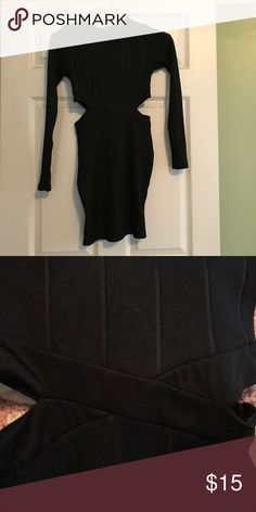 Black Party Dress Short black party dress with sides cut out. Worn once. Perfect condition. Side S but fits more like an XS Dresses Mini