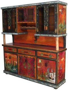 This Custom Buffet w/ Cabinet and Wine Rack by Sticks furniture would look so very good in my home