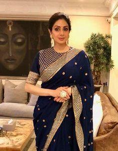 Best Trendy Outfits Part 12 Silk Saree Blouse Designs, Saree Blouse Patterns, Bridal Blouse Designs, Blouse Neck Designs, Sari Bluse, Indische Sarees, Indie Mode, Stylish Sarees, Saree Look