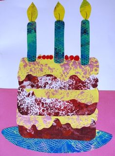 Eric Carle style birthday cake