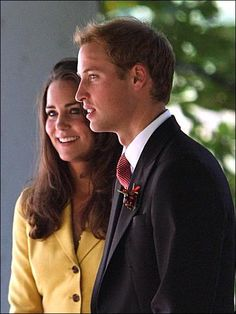 Kate Middleton and Prince William at a friend's wedding