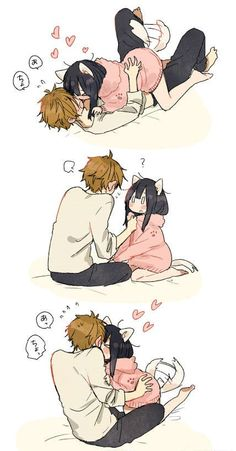 cute | anime | couple | love