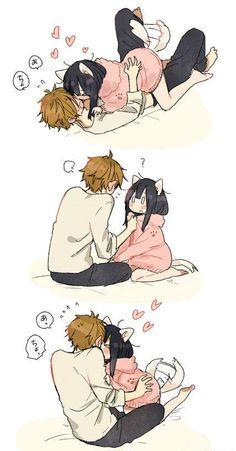 cute | anime | couple | love