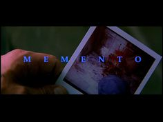 Memento Directed by Christopher Nolan Memento Movie, Mark Boone Junior, Callum Keith Rennie, Carrie Anne Moss, Guy Pearce, Title Card, Movie Titles, Christopher Nolan