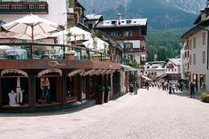 Cortina d'Ampezzo, Italy...this is where Dan's family is from (His mom's maiden name is Cortina, named for this town!)