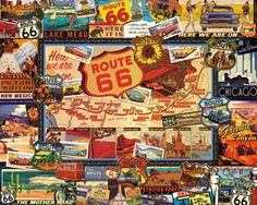 Route 66 Jigsaw Puzzle | Americana | Vermont Christmas Co. VT Holiday Gift Shop