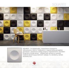 Decorative panel: SQUARES (NEW!)