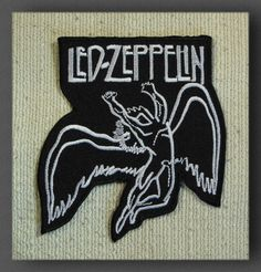 LED ZEPPELIN Blk Embroidered Iron On/Sew On Patch Rock Band in Collectables, Badges/ Patches, Patches | eBay