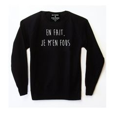 // Pinned by Ellen Rus. Slogan Tshirt, Tee Shirts, Graphic Sweatshirt, Tees, Look Fashion, Womens Fashion, Mode Outfits, Couture, Mode Style