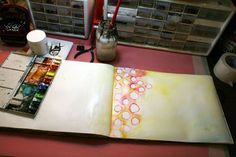 ART JOURNAL EVERY DAY: My Three Best Tips...by Julie Fei-Fan Balzer at balzerdesigns (great site)...1. Prep every page with masking tape down the center seam and a coat of gesso. (Prevents leakage through the binding.). 2. When you have no mojo and no ideas, make pretty backgrounds. 3. Try something new.