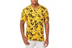 I.N.C. twig leaf print shirt