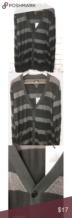 "PJ Mark Knit Cardigan Womens Size XL NEW PJ Mark Cardigan Womens Size XL Black Gray Button Pockets L/S Knit NWT  Long sleeve 5 button closure 2 pockets Light weight Christian saying on tag New with tags Women's XL Length (from front shoulder to bottom of hem): 31 1/2"" Raglan sleeve (from middle of collar to end of sleeve/cuff): 38 1/4"" Bust: (from bottom of arm across to bottom of other arm & doubled) 44"" PJ Mark Sweaters Cardigans"