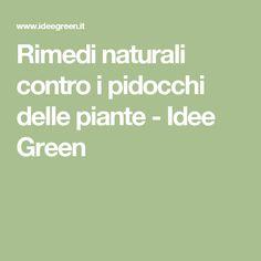 Rimedi naturali contro i pidocchi delle piante - Idee Green The Cure, Healthy Living, Remedies, Vegan, Fitness, Beauty, Hobby, Alternative, Menopause