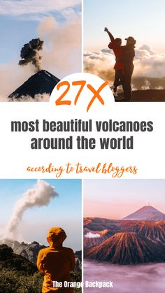 To uncover the most beautiful volcano experiences, we've asked the some of the world's leading travel bloggers to help create the ultimate bucket list with the best volcanoes to visit around the world. #bucketlist #volcanoes #mustvisit #travel #travelbloggers #travelexperience #hiking #bromo #acatenango #stromboli Places Around The World, Travel Around The World, Around The Worlds, Travel English, Orange Backpacks, Camping Guide, Us National Parks, Asia Travel, Volcanoes