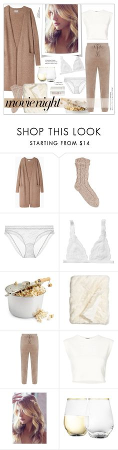 """#movienight"" by stylemeup-649 ❤ liked on Polyvore featuring Acne Studios, Le Mystère, Monki, Nordstrom, Juicy Couture, Puma, Urban Outfitters and Fresh"