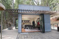 Container Homes Green off the grid glass house Must link: https://www.airbnb.co.uk/rooms/24779