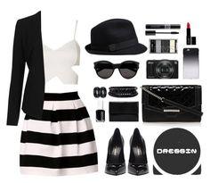 """Dressin Skirt"" by scarlett-morwenna ❤ liked on Polyvore featuring moda, Topshop, Yves Saint Laurent, Nine West, Ann Demeulemeester, Essie, Spring Street, C6, Nikon i Lord & Berry"
