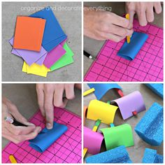 Pool Noodle Boats - Perfect easy summer craft for kids!  Must make before we go to the pool to have races!