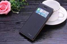 PU Leather Window Design Case For iPhone 6