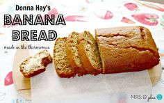 Donna Hay& Banana Bread converted for the Thermomix. It& the best banana bread I& ever made. Thermomix Bread, Thermomix Desserts, Lunchbox Kids, Donna Hay Recipes, Banana Mix, Bellini Recipe, Biscuits, Best Banana Bread, Pudding