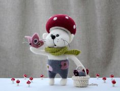 Needle felted cat  Needle felted animal  Home by NeighborKitty