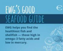 EWG's seafood guide, rating seafood on mercury content and omega 3