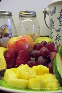 We do eat fruit with dinner but a lot of people don't think we are sane...reassuring article for me at least.