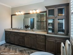 Dual sinks in this master bathroom. The Butler Ridge house plan 1320-D. #WeDesignDreams